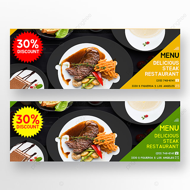 double sided steak food horizontal template