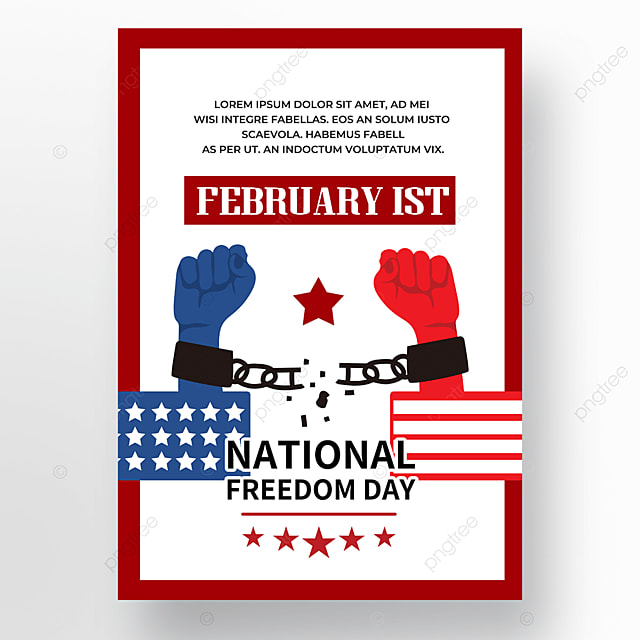 fist american freedom day poster