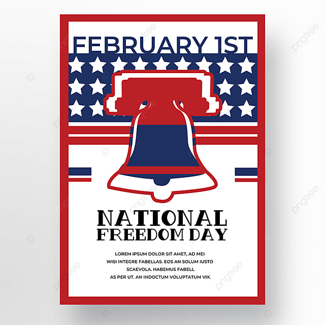 freedom day poster on white background