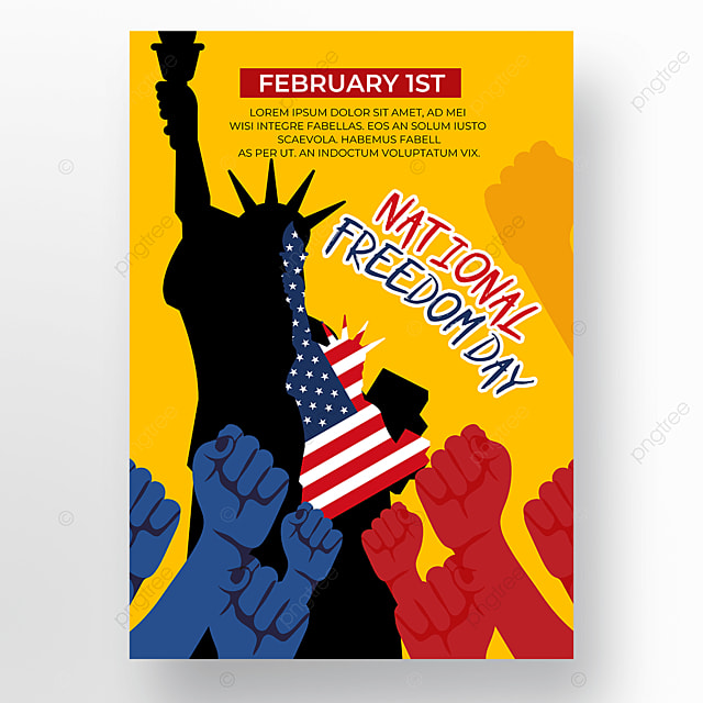 statue of liberty yellow background poster