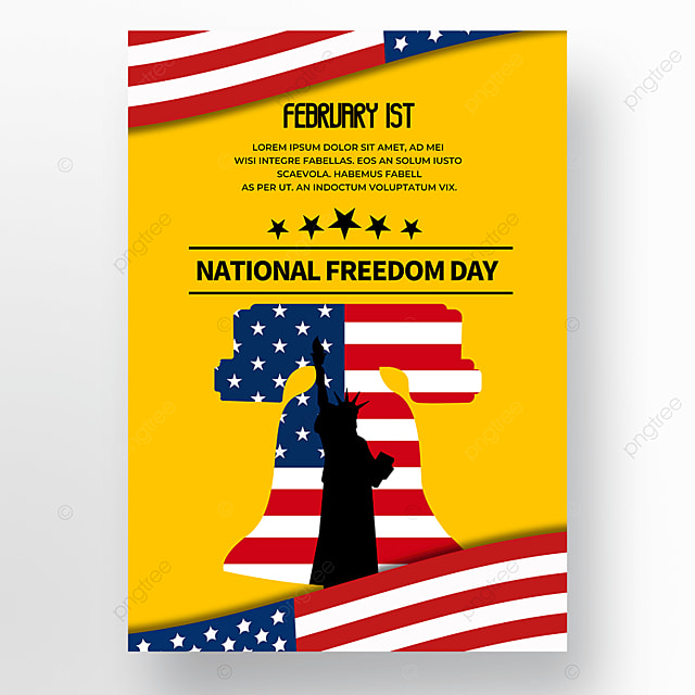 yellow background american freedom day
