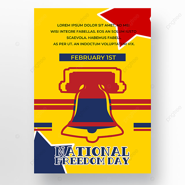 yellow background american freedom day poster