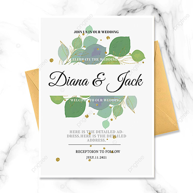 Download Wedding invitation with gold foil green leaves templates from Pngtree.com and you can finish your design projects within minutes even if you have little design experience. All of the Awesome Wedding invitation with gold foil green leaves templates in this collection have commercial use license so you can use them without any copyright concerns.
