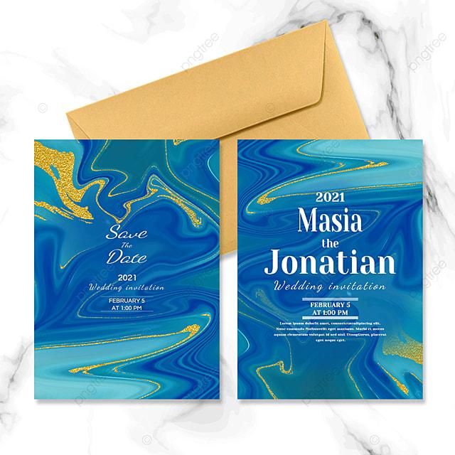 marble texture abstract wedding invitation