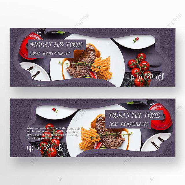 paper cut style simple texture restaurant banner