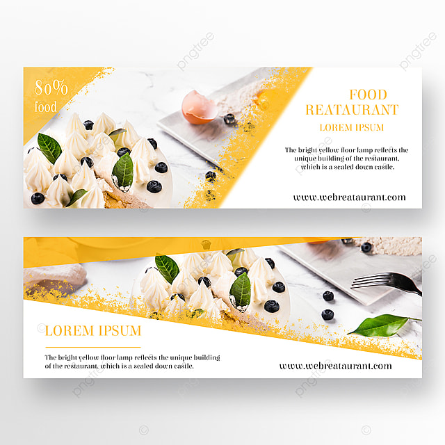 simple and refreshing dessert restaurant double sided banner