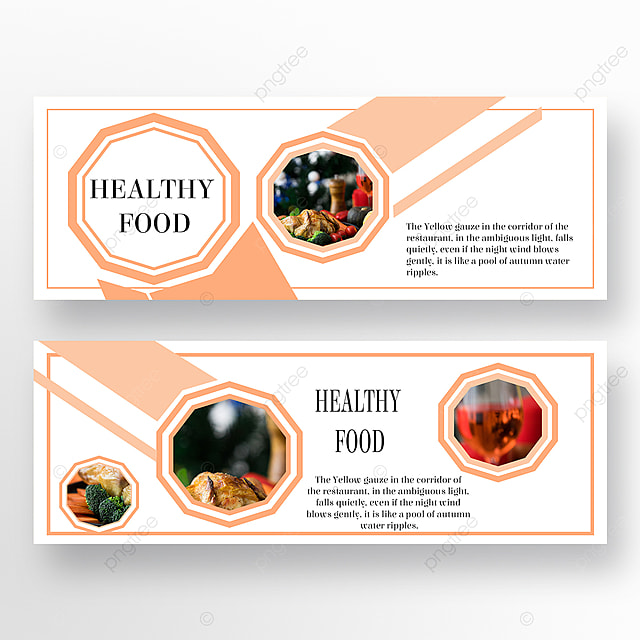 simple geometric graphic banner for double sided restaurant