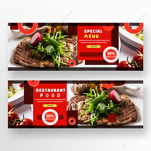 steak double sided restaurant food red circle geometry