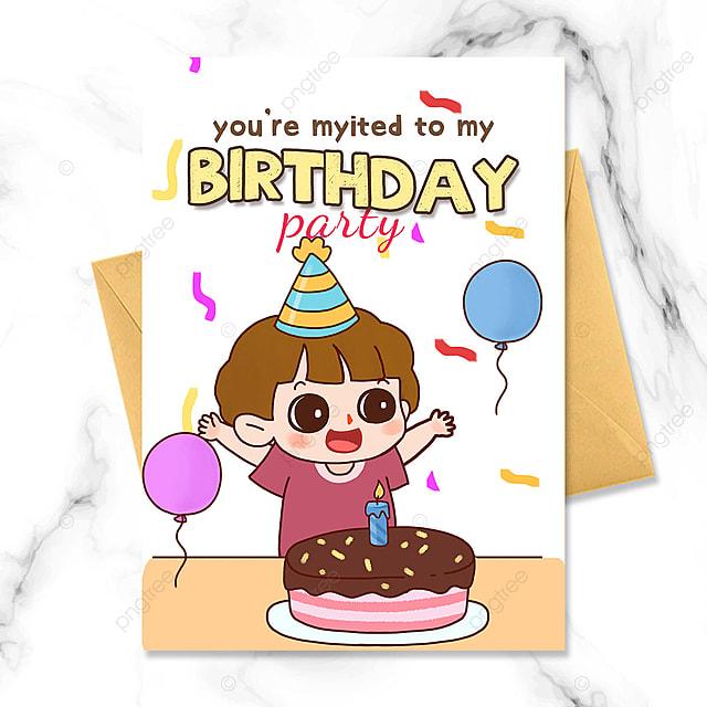 cartoon character birthday party invitation