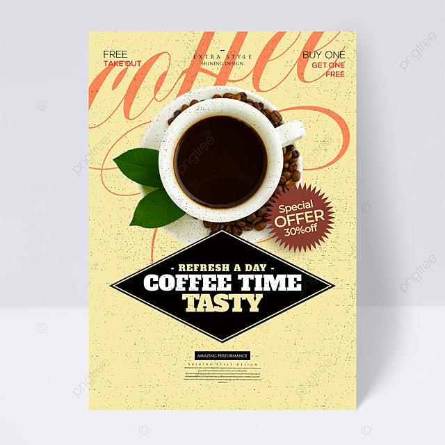 fashion retro minimalist coffee promotion flyer