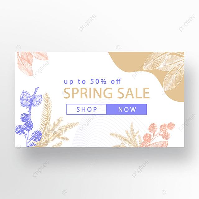 gold blue pink fashion flower plant banner
