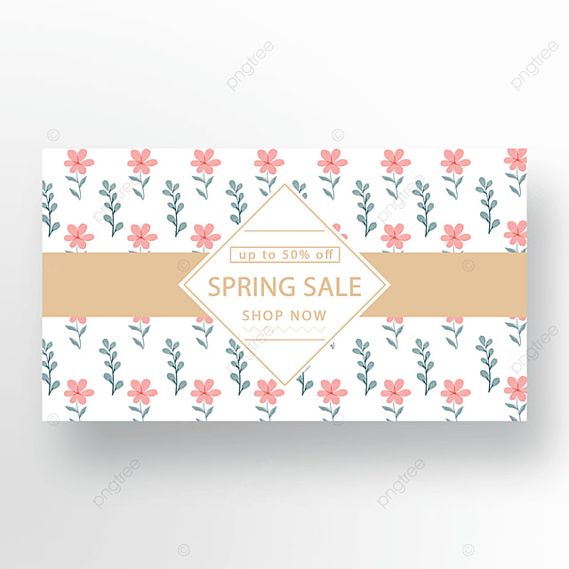 gold powder green simple floral plant banner
