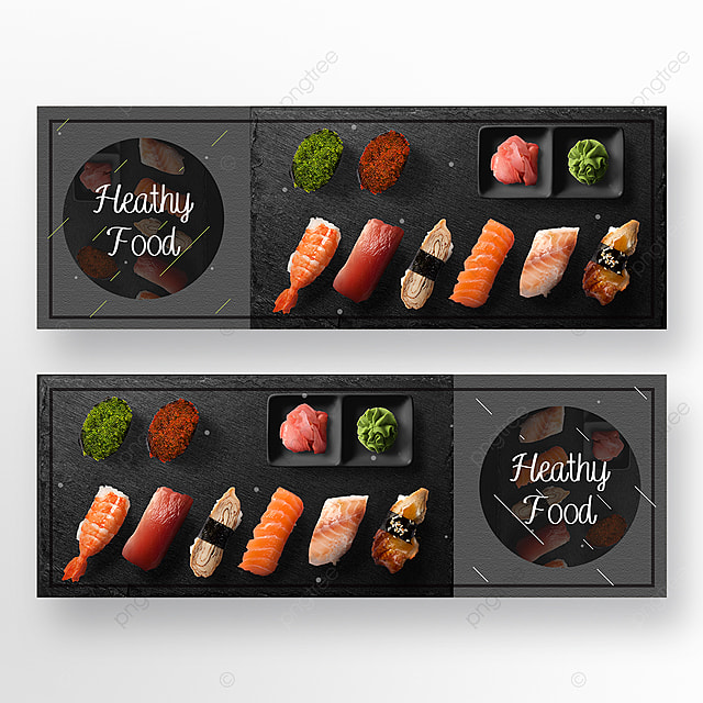 high end texture restaurant double sided banner