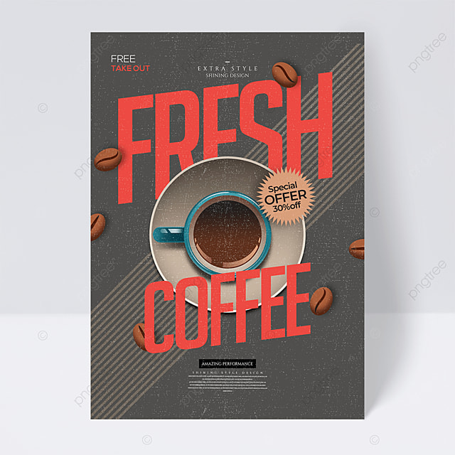 personalized retro cartoon coffee drink flyer