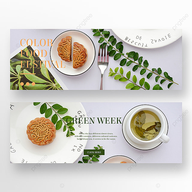 simple green restaurant double sided banner