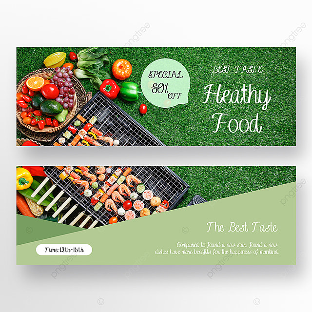 simple restaurant double sided banner