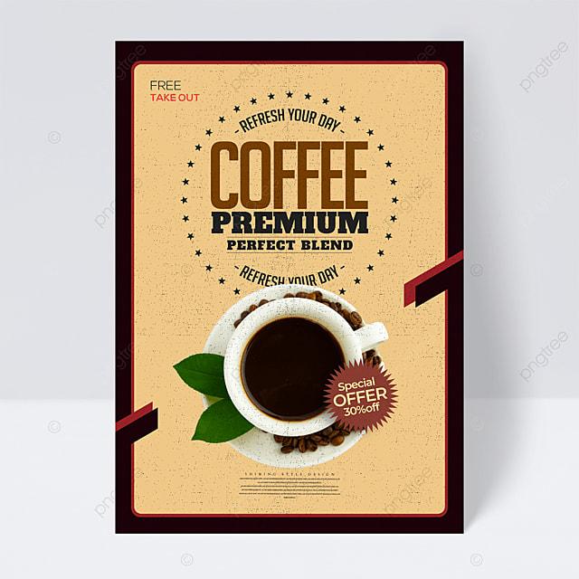 simple retro coffee flyer