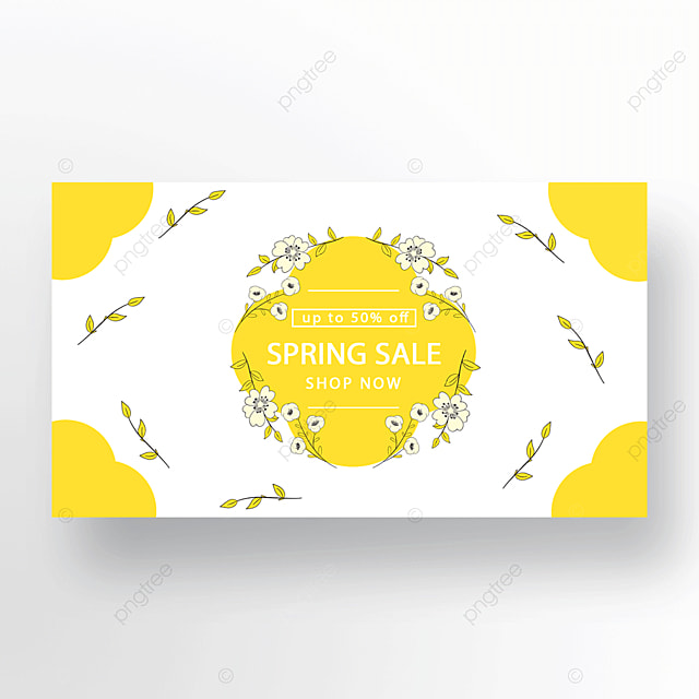 yellow simple fashion flower plant banner