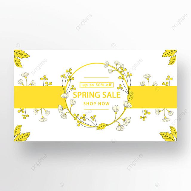 yellow stylish flower plant banner