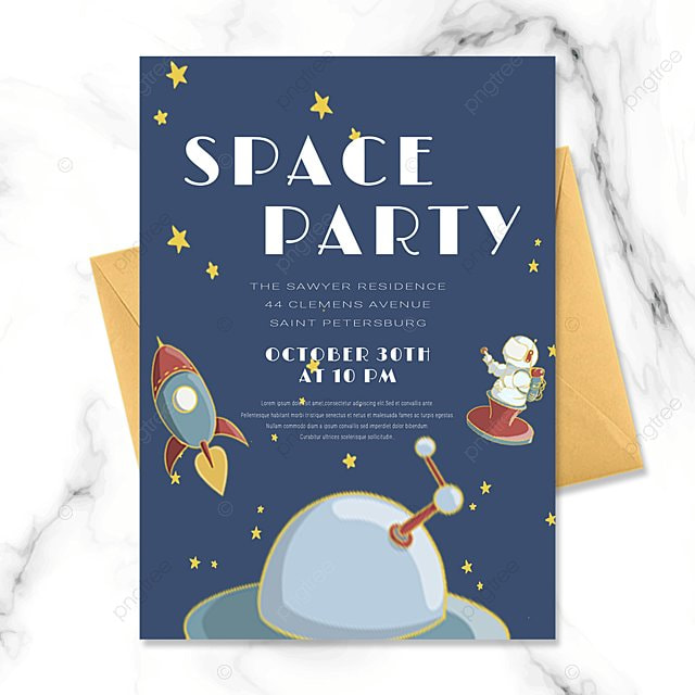 astronaut space party invitation letter baby birthday invitation letter