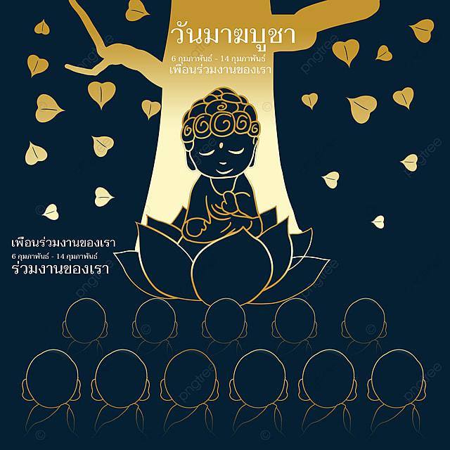 black gold thailand ten thousand buddhas festival poster