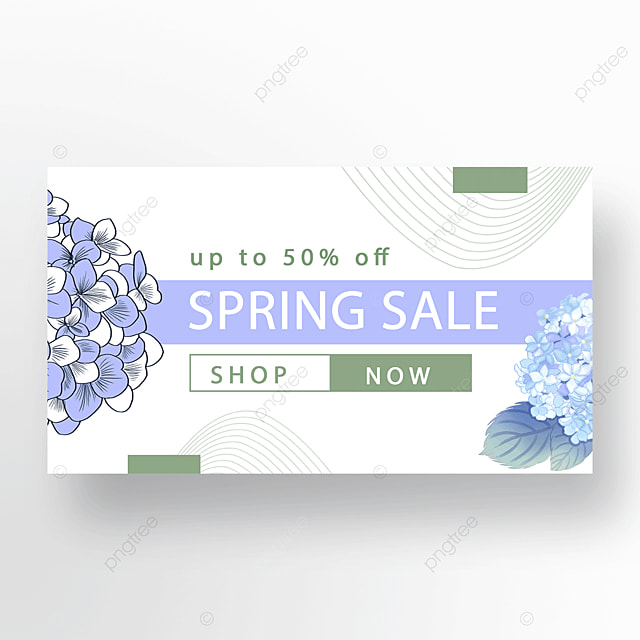 blue green simple flower plant banner