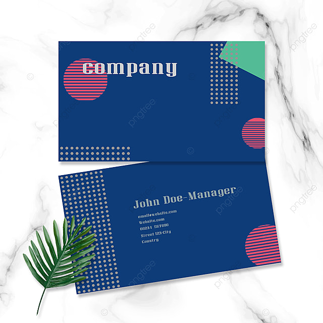 colorful dot geometric double sided business card
