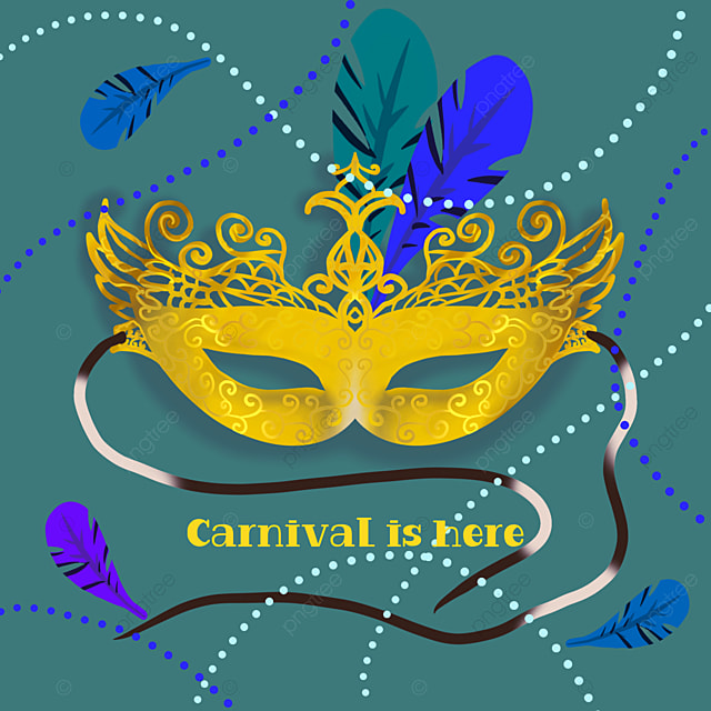 creative and exquisite green mask brazilian carnival social media