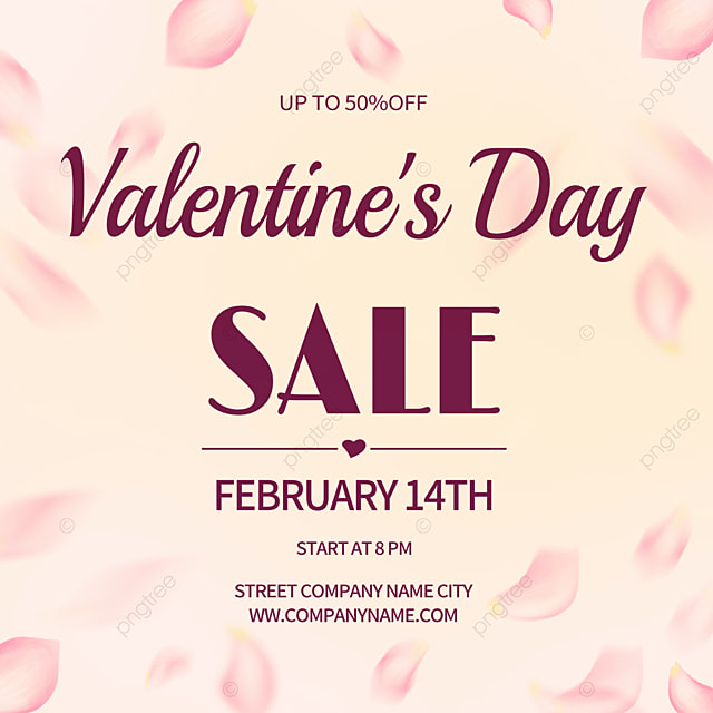 creative high end rose petals valentines day promotion social media