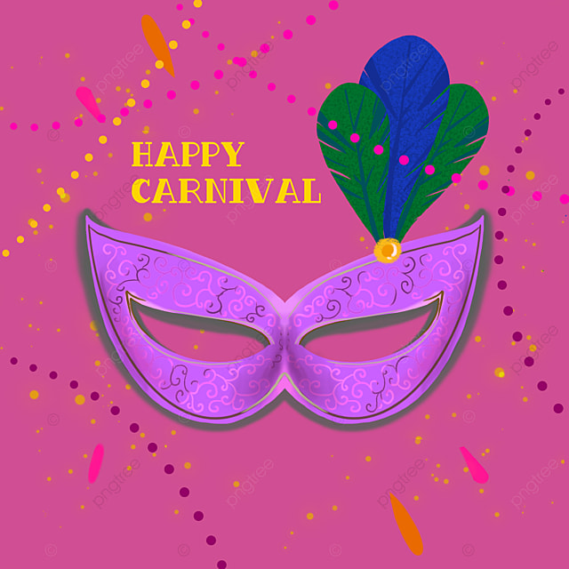 creative pink fashion mask brazilian carnival social media