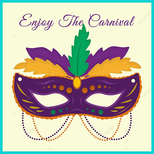 exquisite green border mask brazilian carnival social media