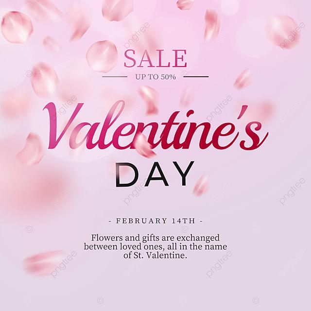 exquisite purple rose petals valentines day promotion social media