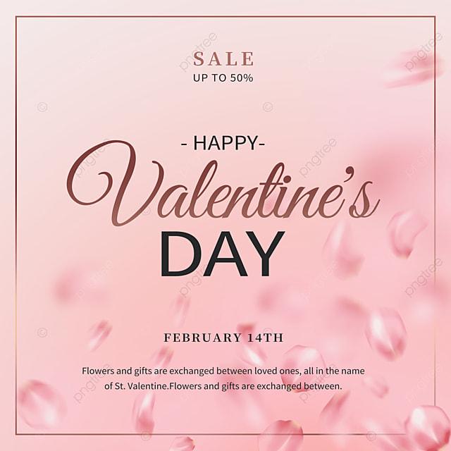 fashion border rose petals valentines day promotion social media