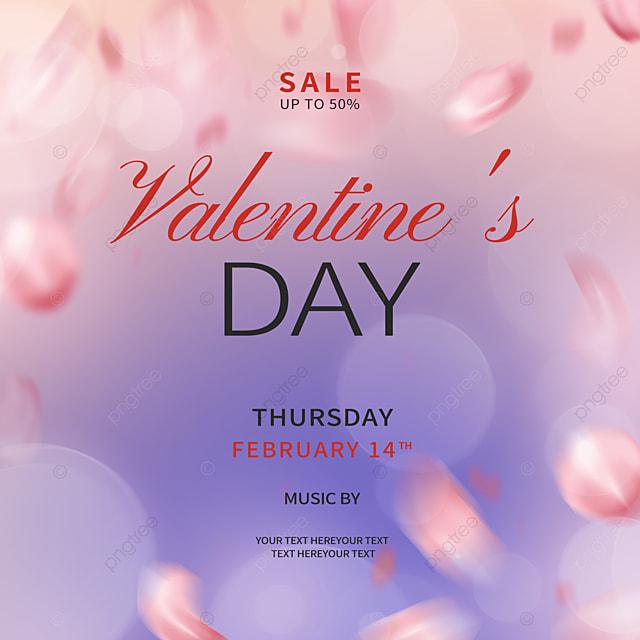 fashion gradient rose petals valentines day promotion social media