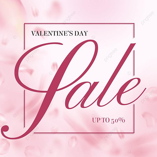 fashion pink petals valentines day promotion social media