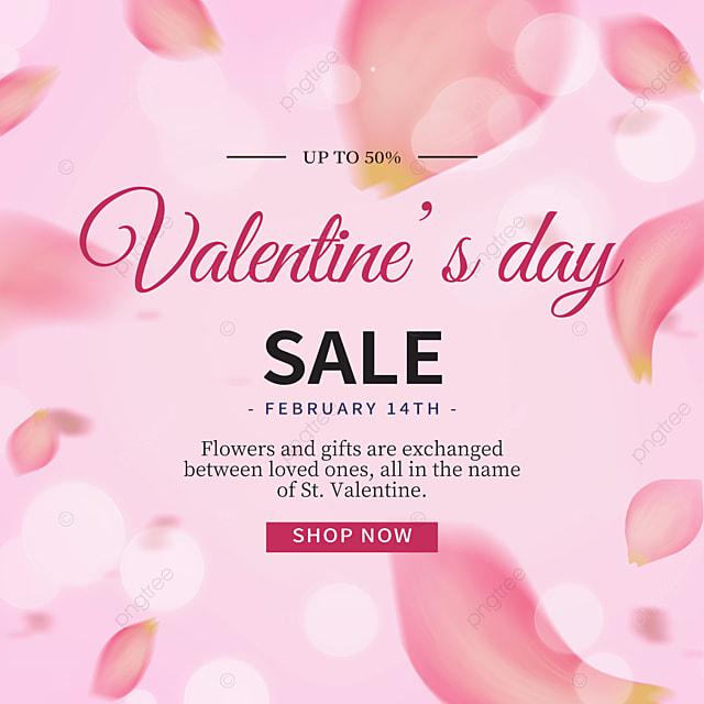 fashionable high end rose petal valentines day promotion social media