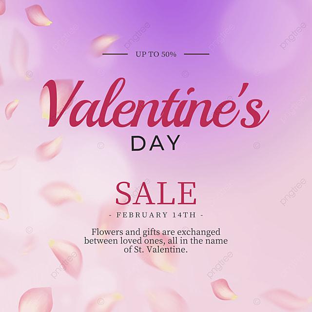 fashionable modern rose petals valentines day promotion social media