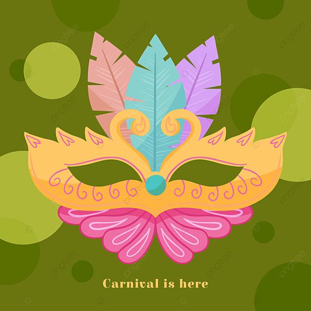 green creative mask brazilian carnival social media