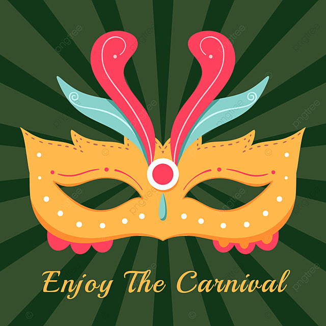 green exquisite mask brazilian carnival social media