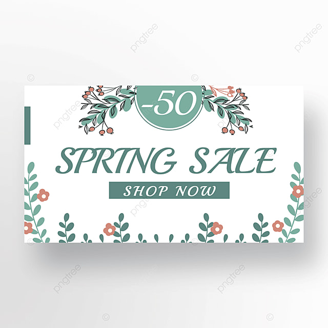green pink fashion simple flower plant banner