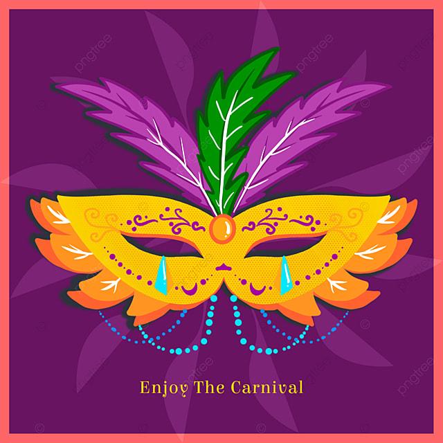 high end purple mask brazilian carnival social media