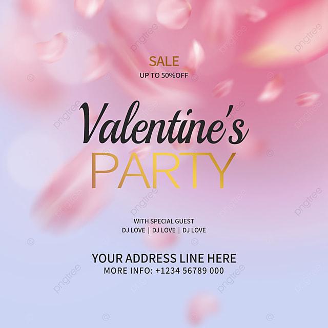 high end rose petal valentines day promotion social media