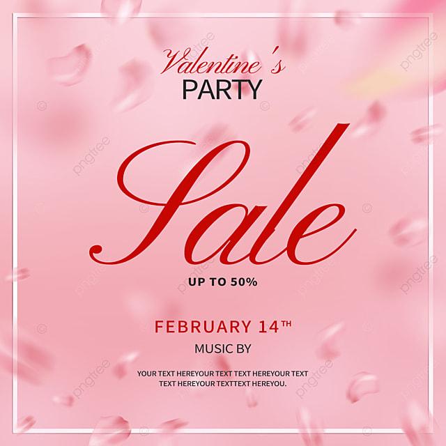 modern exquisite rose petals valentines day promotion social media