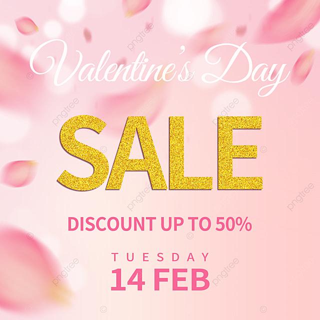 pink petals valentines day promotion social media