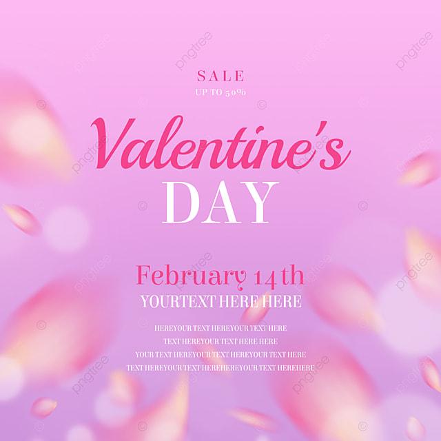 purple rose petals valentines day promotion social media
