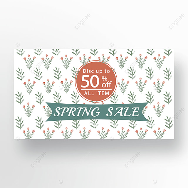 red and green simple flower plant banner