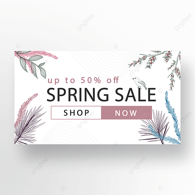 red blue green simple fashion flower plant banner
