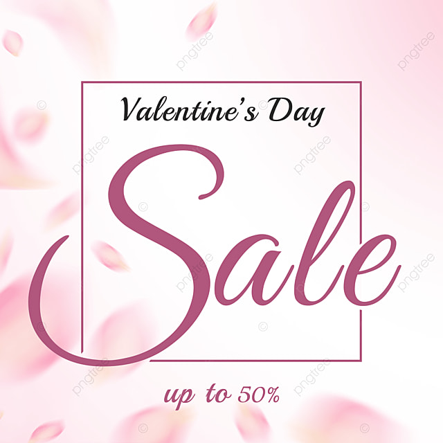 simple pink petals valentines day promotion social media