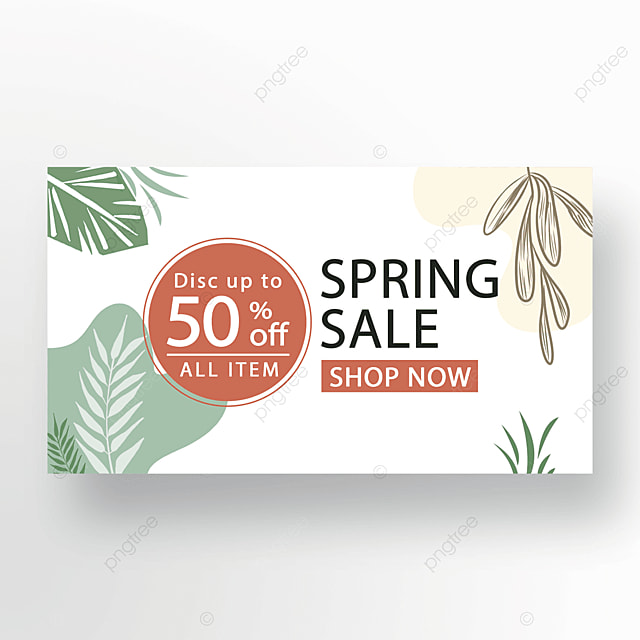 yellow green red stylish floral plant banner