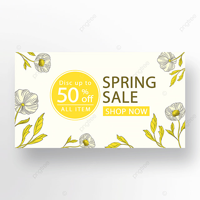 yellow minimalist fashion flower plant banner